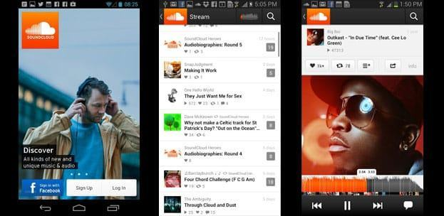 SoundCloud android - Top 25 Apps for Android Phones (2014)