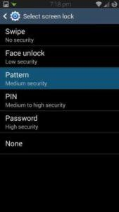 Set Pattern Lock in your device 169x300 - LG Knock Code Lock For All Android Device