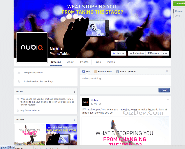 Nubia fb - Zte,S Nubia Phone Will Come India Shortly With Nubia Z9 Mini