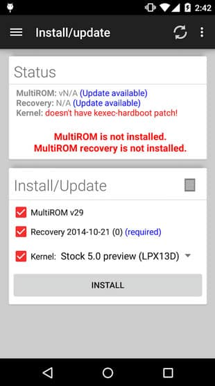 multirom manager - Install MultiROM On Google Nexus 6