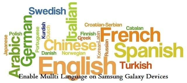 Samsung Multi Languages