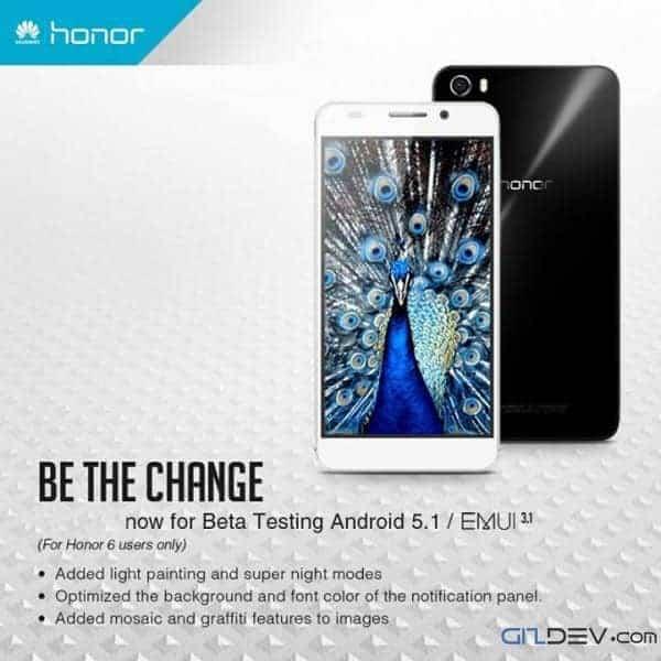 honor 6 beta emui 3.1 - Honor 6 Emui 3.1 Android 5.1[Beta] For L01, L11, L21,L04,L12
