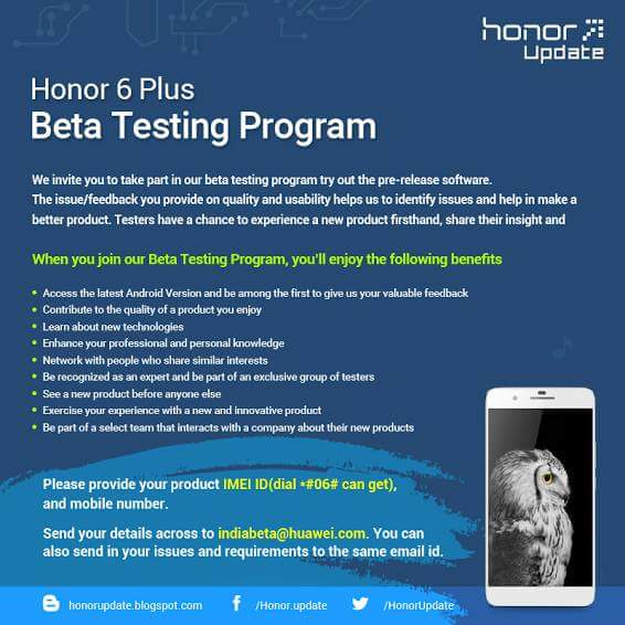 lollipop Honor 6 plus 6 4x 4c - Official Lollipop Emui 3.1 Beta Test For Honor 6, 6Plus, 4x, 4c Indian Users