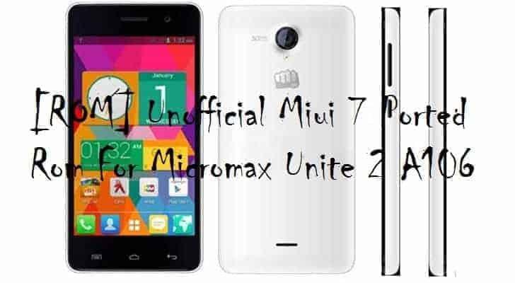 Rom For Micromax Unite 2
