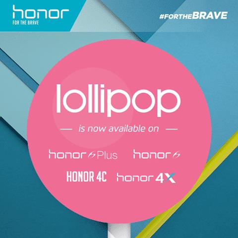 honor 4x 4c 6 6 plus lollipop