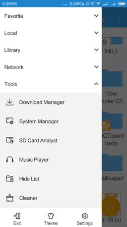 ES File Explorer hide files 1 - Hide your any folder in Android using ES File Explorer