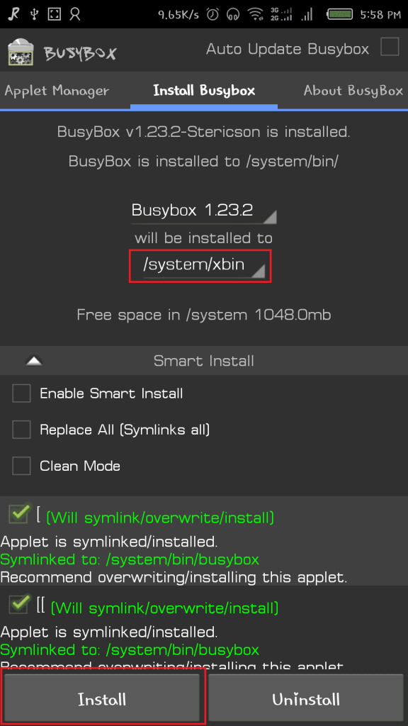 busybox config 576x1024 - Guide To Install Viper4Android On CyanogenMod 13 Android M