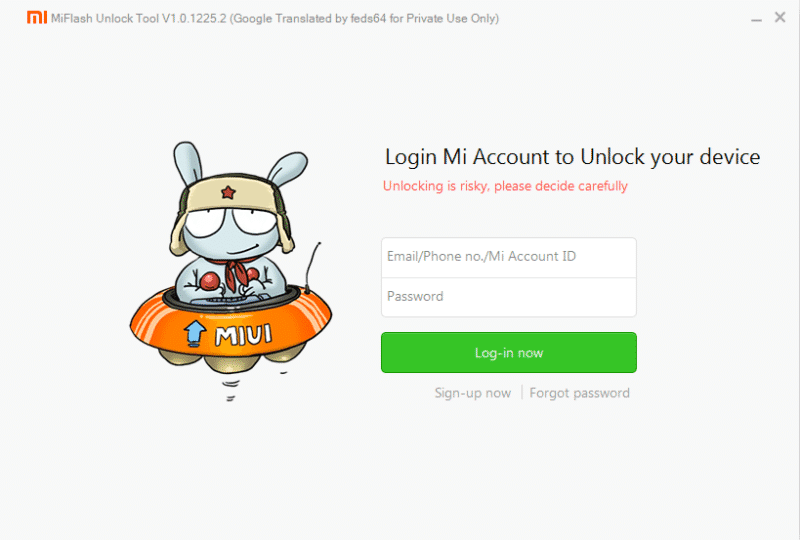 MiFlashUnlock 2 - Unlock Bootloader Of Xiaomi Mi & Redmi Devices With Mi Unlock Tool