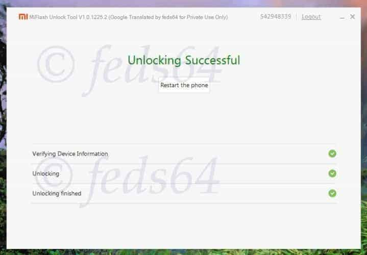 MiFlashUnlock Unlocking 2 - Unlock Bootloader Of Xiaomi Mi & Redmi Devices With Mi Unlock Tool