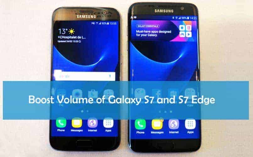 galaxy s7 galaxy s7 edge volume boost