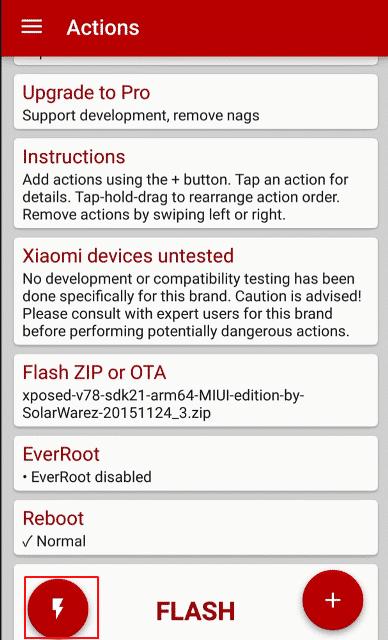 Xposed Framework flash fire redmi note 3 4