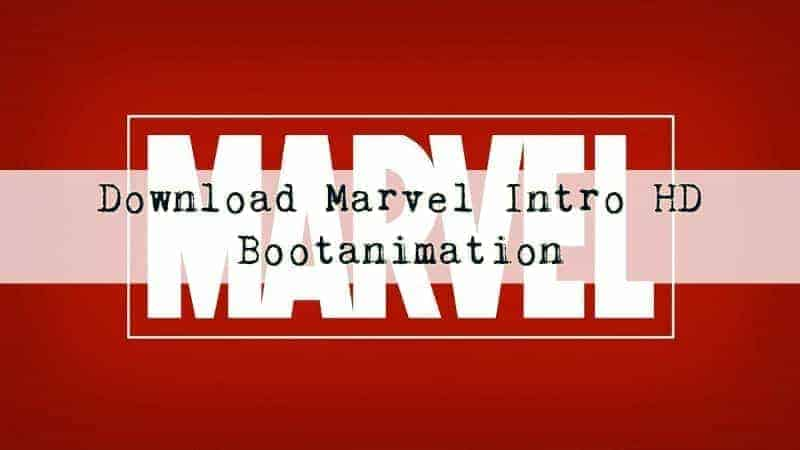 marvel bootanimation