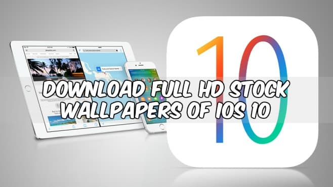 Apple IOS 10 Stock Wallpapers
