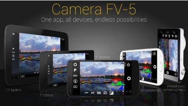 Camera FV 5 android - Top Android Camera apps for Selfie and Photography (2016)
