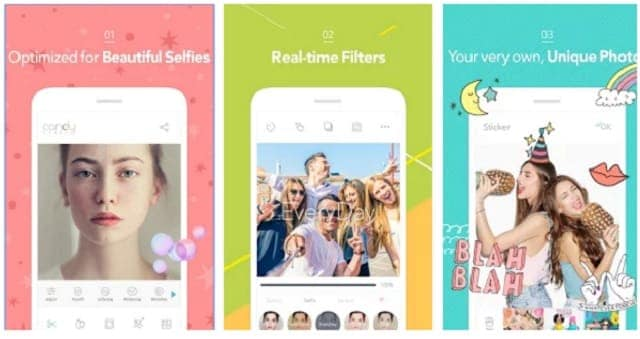 Candy Camera android - Top Android Camera apps for Selfie and Photography (2016)