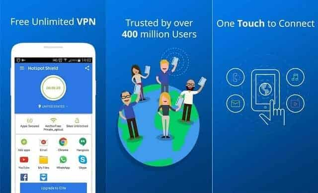 Hotspot Shield Android 1 - Top Paid and Free Vpn apps for Android Phones (2016)