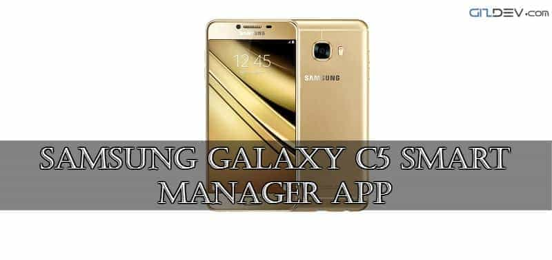 Galaxy C5 Smart Manager App