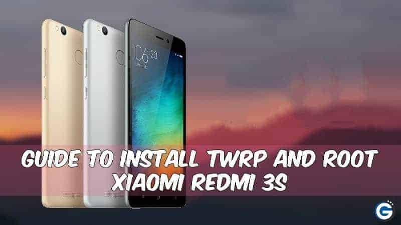 TWRP Root Xiaomi Redmi 3S