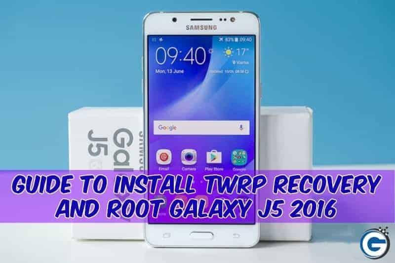 Galaxy J5 2016 twrp root
