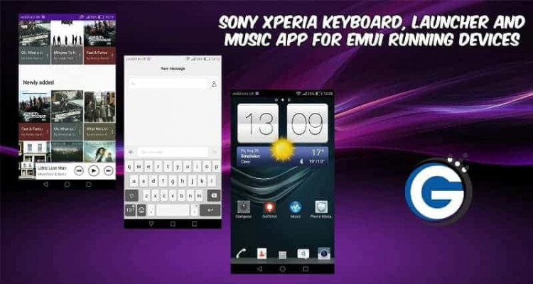 Sony Xperia Keyboard Launcher and Music App 750x400