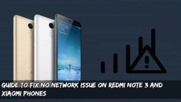 How To Fix No Network Issue On Redmi Note 3