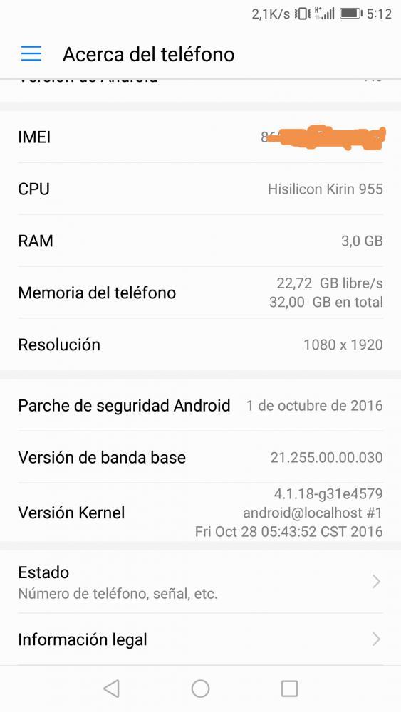 B322 Emui 5.0 Huawei P9 Android 7.0 Nougat OTA 2