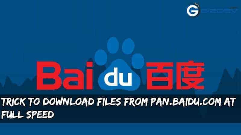 Trick To Download Files From pan baidu com at Full Speed