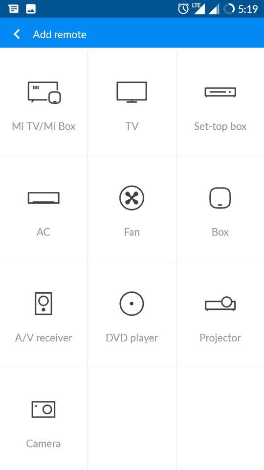 Mi Remote app 2