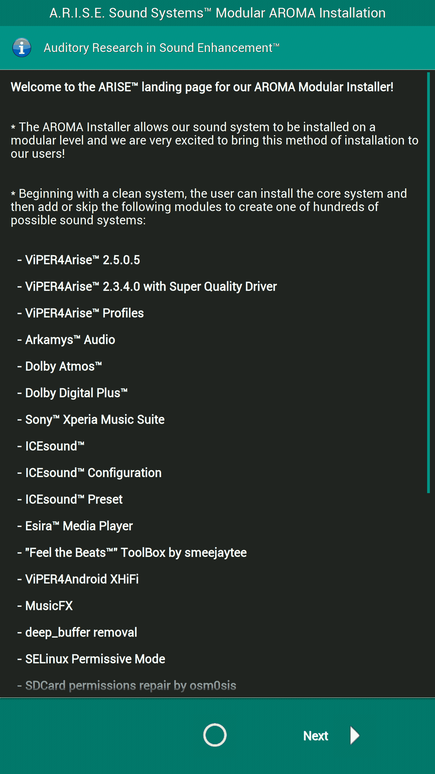 Install Viper4Android on Android 7 0 with ARISE Sound Systems