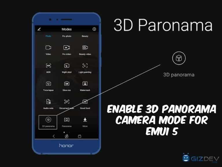 Enable 3D Panorama Camera Mode For EMUI 5 - Trick To Enable 3D Panorama Camera Mode For EMUI 5
