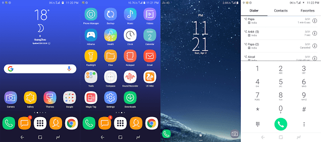 Download Samsung Galaxy S8 Theme For EMUI Running Device