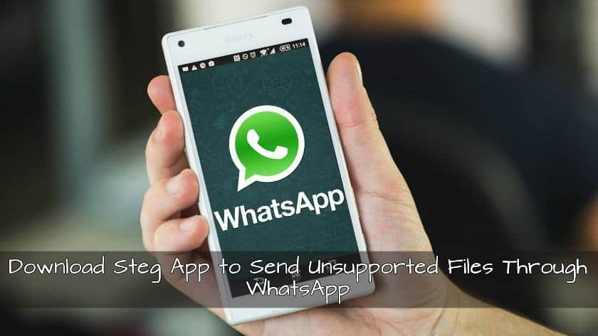 Download Steg App to Send Unsupported Files Through WhatsApp - Download Steg App to Send Unsupported Files Through WhatsApp