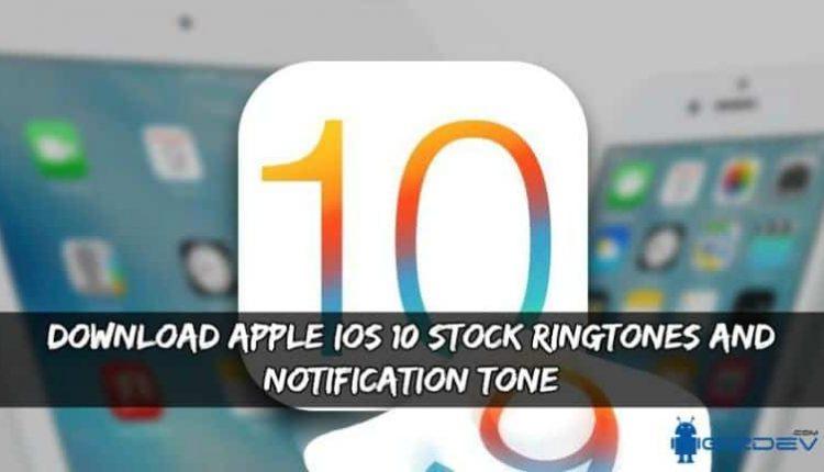 Apple iOS 10 Stock Ringtones