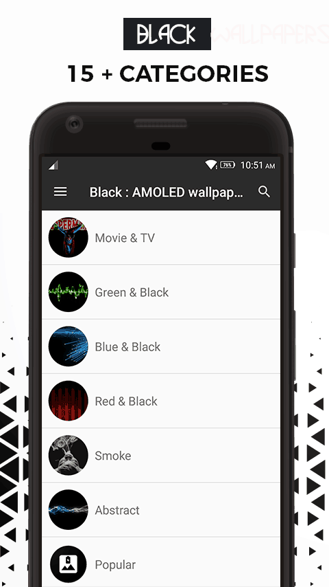 Black Amoled Wallpapers app 1 - Download Black AMOLED Wallpapers App For Dark Backgrounds Walls