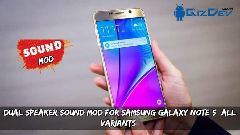 Dual Speaker Sound MOD for Samsung Galaxy Note 5 All Variants - Dual Speaker Sound MOD for Samsung Galaxy Note 5 (All Variants)