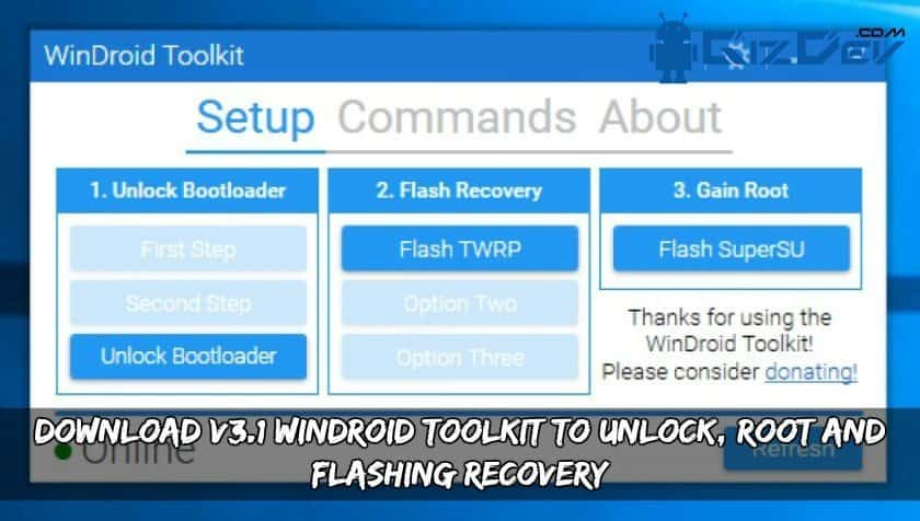Download V3.1 WinDroid Toolkit - Download WinDroid Toolkit V3.1 To Unlock, Root And Flashing Recovery