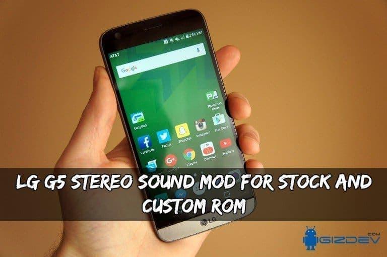 LG G5 Stereo Sound MOD