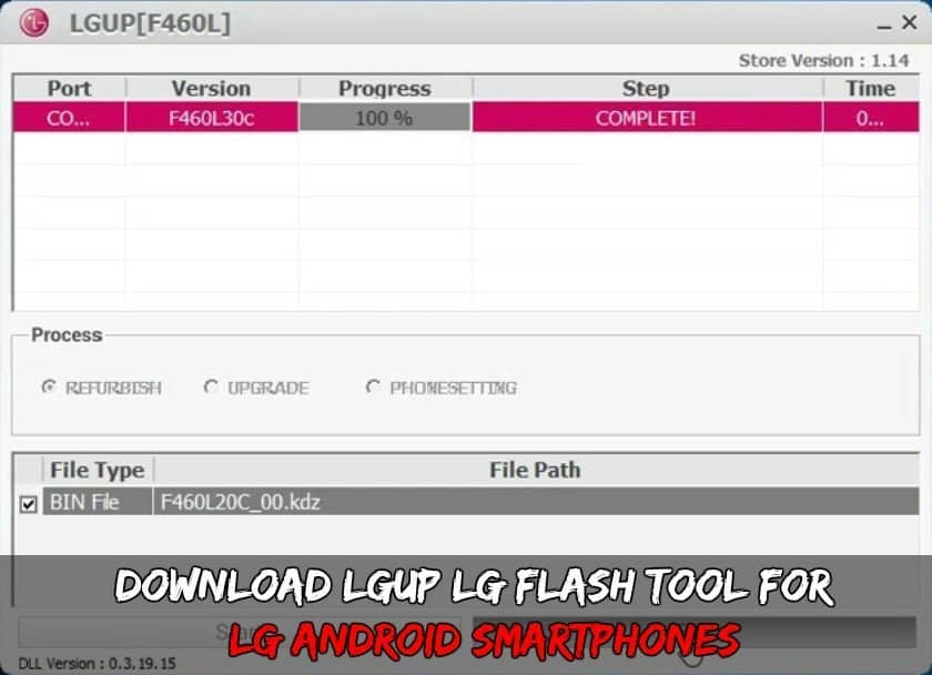 LGUP LG Flash Tool - Download LGUP LG Flash Tool for LG Android Smartphones