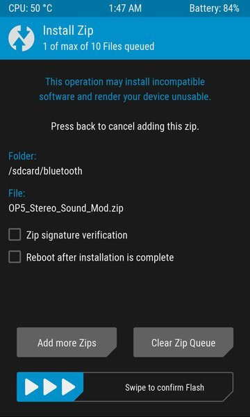 OnePlus 5 Sound MOD TWRP 1 - How To Install Dual Stereo Speaker MOD For OnePlus 5 For Audio Quality