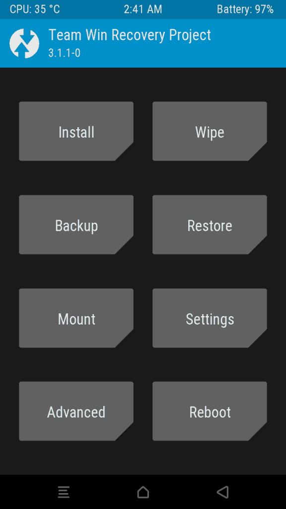TWRP Themed 1 576x1024 - Guide To Install 3.1.1 TWRP Recovery And Root Lenovo P1M