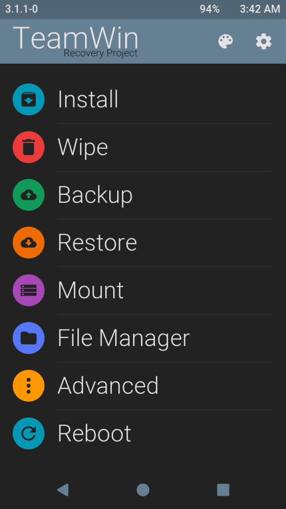 TWRP Themed 2 576x1024 - Guide To Install 3.1.1 TWRP Recovery And Root Lenovo P1M