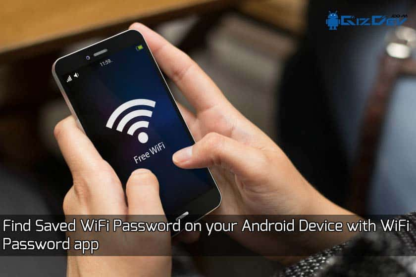 Find Saved WiFi Password app