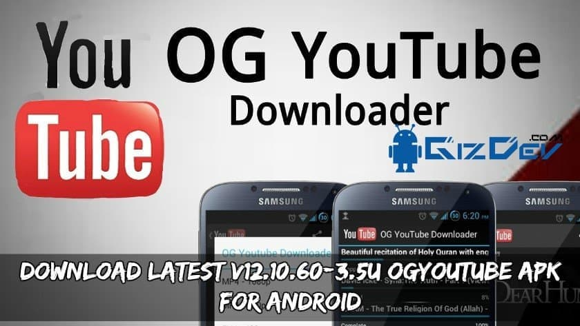Latest v12.10.60 3.5U OGYoutube APK