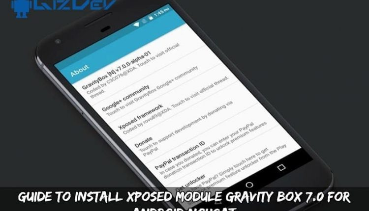 Xposed Module Gravity Box 7.0 For Android Nougat