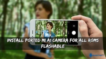 MI A1 Camera