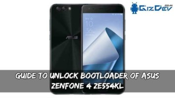 Guide To Unlock Bootloader Of Asus Zenfone 4 ZE554KL