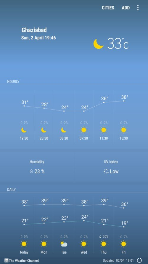 Galaxy S8 Weather App 1 - Download Galaxy S8 Weather APP For Samsung Devices (Flashable ZIP)