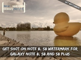 Get Shot On Note 8, S8 Watermark For Galaxy Note 8, S8 and S8 Plus