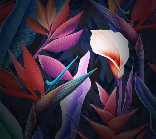 Mate10 theme Flowers home wallpaper 0 - Exclusive Huawei Mate 10 Stock Wallpapers Collection Mate 10 Series