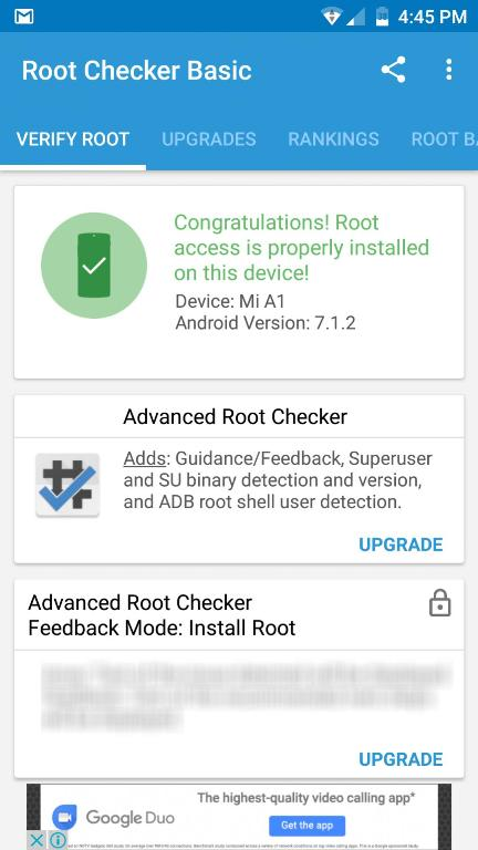 Rooted Mi A1